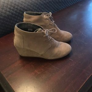 Fall booties. Tan. Size 7.5